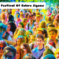 The Festival Of Colors Jigsaw