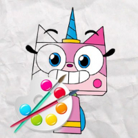 Unicorn Kitty Coloring Book